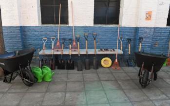 San Fernando entregó materiales para una huerta orgánica del Instituto Madre Rafaela