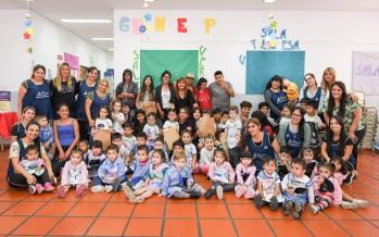 San Fernando: Jóvenes del programa Sumate confeccionaron pintorcitos con el reciclado de sachets