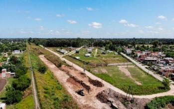 Maquinista Savio: la Municipalidad de Escobar duplica la capacidad del reservorio hidráulico