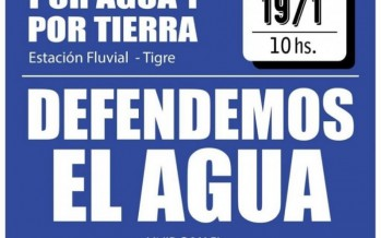 Movilización en Tigre en defensa del agua