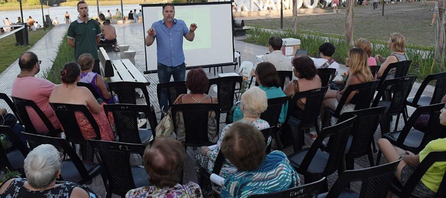 San Fernando: En la Costanera Municipal se realizó una charla de concientización ambiental