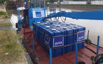 AySA implementa un cronograma fijo de entrega de agua potable para abastecer a vecinos y vecinas del Delta