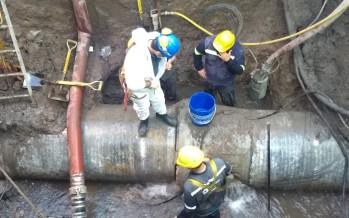 Malena Galmarini recorrió la obra de reparación de grandes conductos que AySA realiza en Pacheco