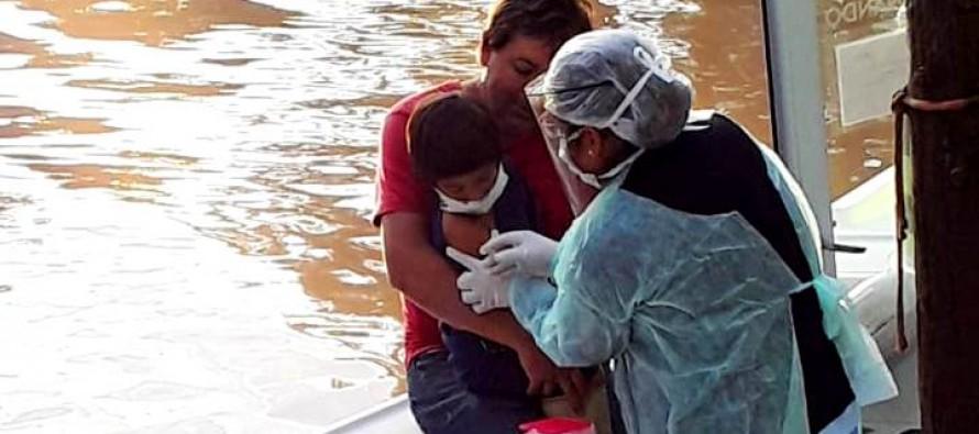 Delta: continúan los controles médicos y la vacunación muelle por muelle