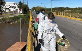 La Autoridad del Agua tomó muestras del arroyo Claro en Malvinas Argentinas y Tigre
