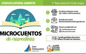 "San Fernando convoca a escribir ""Microcuentos de Cuarentena"""