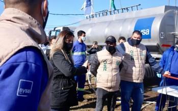 AySA realizó un operativo en el barrio San Jorge para prevenir el COVID-19