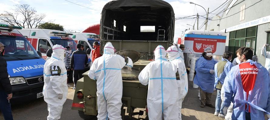 Detectan tres casos en el Barrio San Jorge de Tigre y suman 128 los infectados