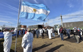 En el barrio San Jorge, el Municipio de Tigre y el Ejército conmemoraron el Día de la Bandera