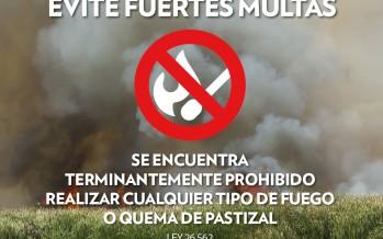 Advierten sobre los peligros de la quema de pastizales en el Delta