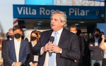 Alberto Fernández anunció obras desde Pilar junto a Axel Kicillof
