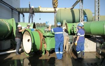 AySA instala válvulas en la planta Juan Manuel de Rosas para expandir el servicio de agua en Escobar