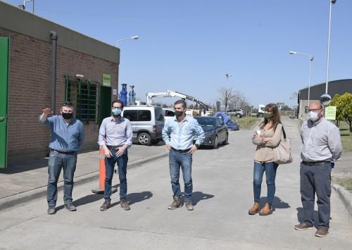 El ministro de Infraestructura visitó la Estación de Bombeo Nº 9 en San Fernando