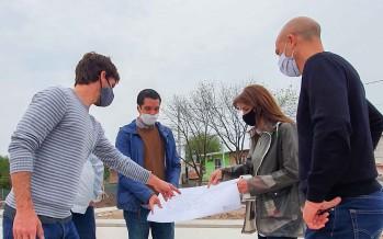 San Fernando trabaja en la construcción de una plaza en el barrio San Martín