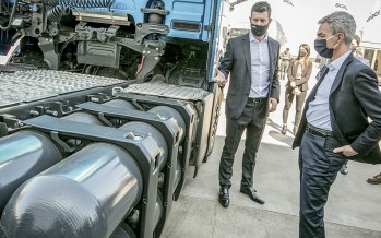Meoni visitó una planta en Pacheco y prometió apoyo a las empresas que avancen en la modificación de la matriz energética