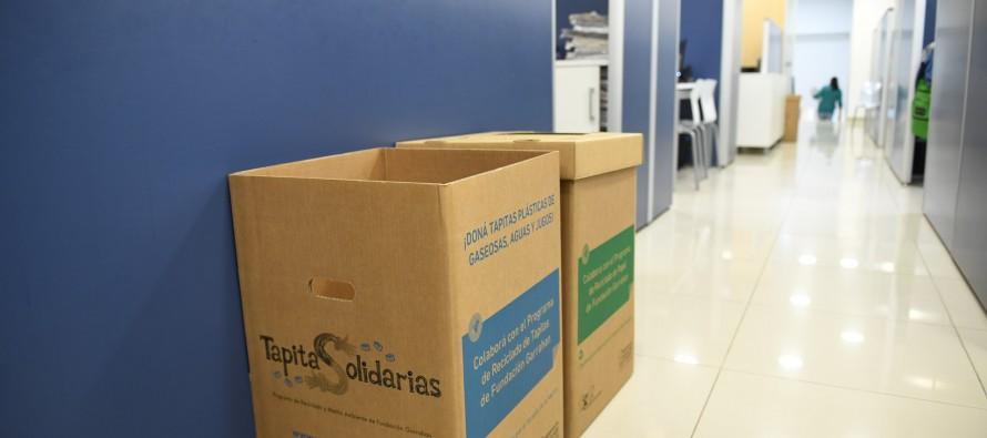 Convenio entre San Fernando y el Hospital Garrahan por reciclaje de papel y tapitas de plástico
