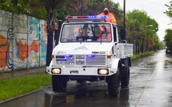 El Municipio de San Fernando realizó tareas preventivas frente al alerta por tormentas y sudestada