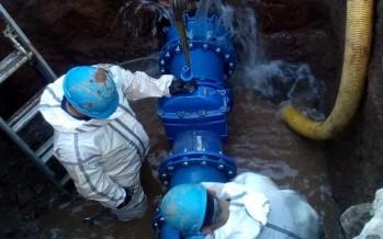 San Fernando: AySA realizó un operativo de cambio de válvula para modernizar la red de agua en zona norte