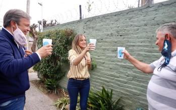 Malena Galmarini y Mariano Cascallares inauguraron redes de agua en Almirante Brown