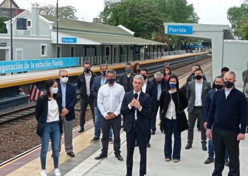El ministro de Transporte de la Nación inauguró la renovada estación Florida, en Vicente López
