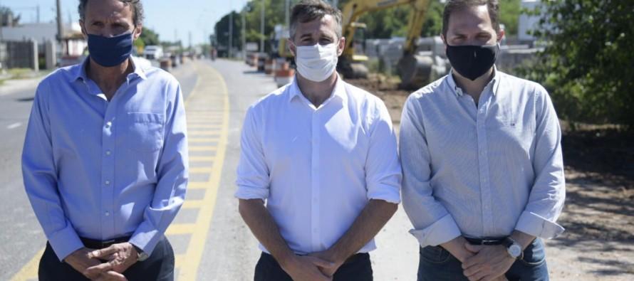 Obras de ensanche y repavimentación de la Ruta 25 en Villa Rosa