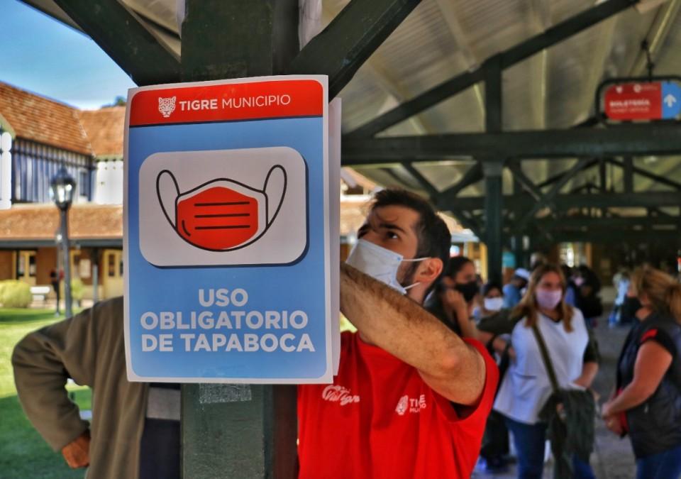 Turismo Tigre entregó material sanitizante