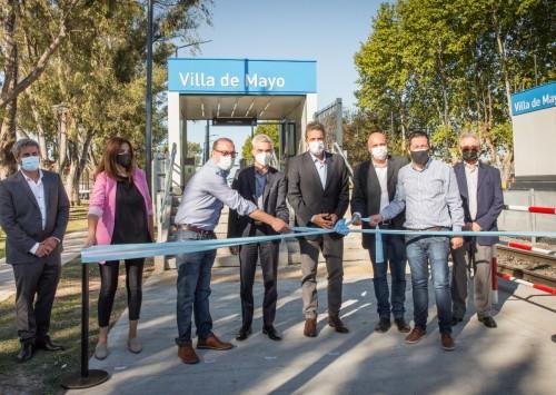 Inauguraron la renovada estación ferroviaria Villa de Mayo