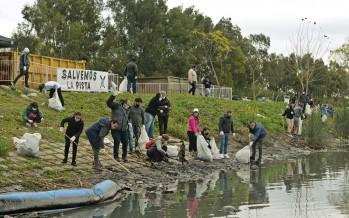 Se realizó una jornada de limpieza en la Pista Nacional de Remo en Tigre
