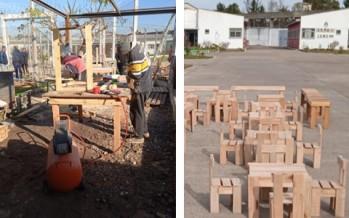 Detenidos de una cárcel de San Martín fabricaron y donaron mobiliario para una iglesia y un comedor