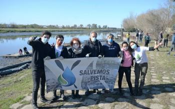Nueva jornada de limpieza de la Pista Nacional de Remo de Tigre